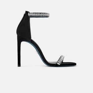 NWT Zara Blue Collection Heeled Leather Sandals